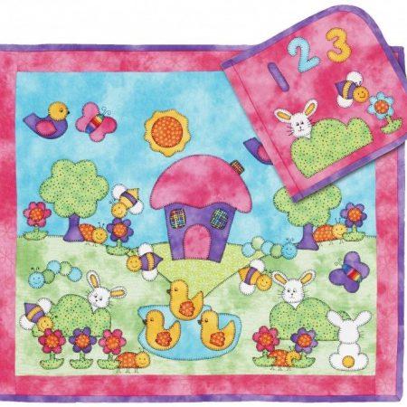 Quiltpatroon van Kids Quilts. Onderwerp: Een leuke quilt of speelboek.
