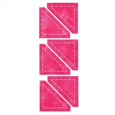 Accuquilt stansvorm snijmal 55319 Half Square Triangle Halve Vierkant
