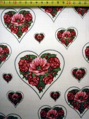 Stenzo stof Bloemen Hart