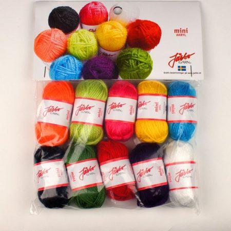 Järbo Mini garenbolletjes Assortiment kleuren Acryl 80500