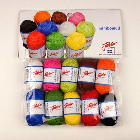 Järbo Mini garenbolletjes Assortiment kleuren Katoen 80503