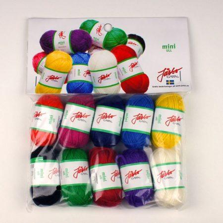 Järbo Mini garenbolletjes Assortiment kleuren Wol 80501