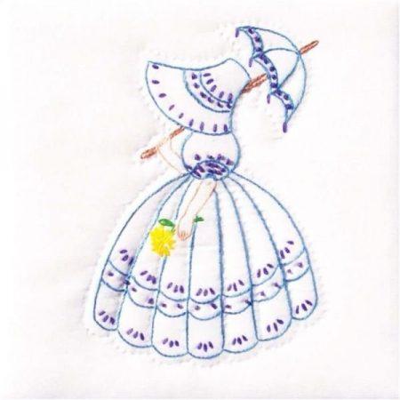 Quiltblokken Parasol Lady