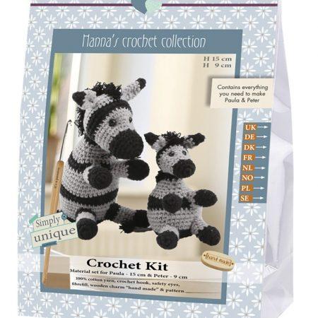 Haakpakket van Go Handmade. Compl. pakket. Zebra's Paula en Peter