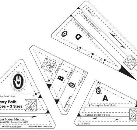 Template set van merk Marti Michell. Template set Starry Path 8586