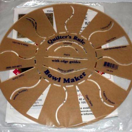 Quilter's Rule Bowl Maker template Mal voor het maken van schalen