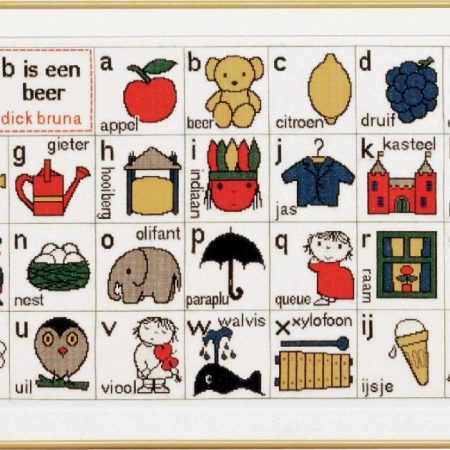Pako Borduurpakket Dick Bruna Aida ABC B is een Beer