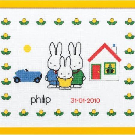 Pako Borduurpakket Dick Bruna Aida Geboortetegel Nijntje Philip