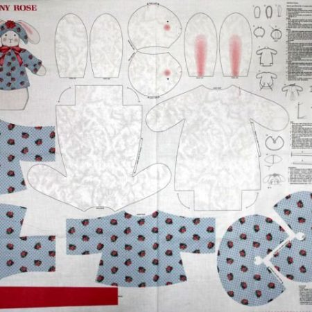 Panel Bunny Rose. Merk: Cranston Print Works Co.