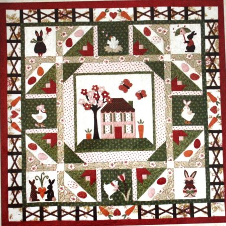 The Quilt Company quiltpatroon Carrot Patch Verzamelplaats Konijn en Kip
