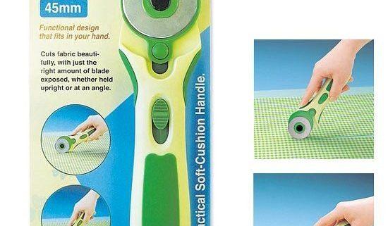 Clover 7500 Rotary Cutter snij- en rolmes 45 mm. Het grote rol- en snijmes