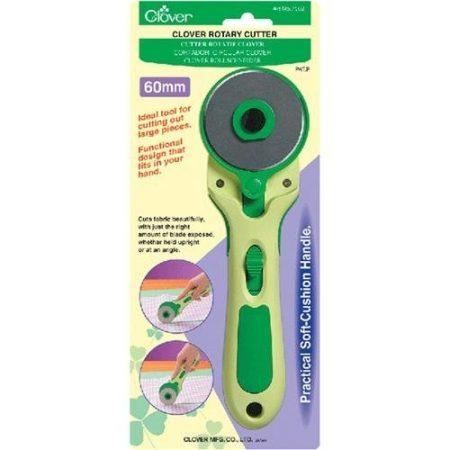 Clover 7502 Rotary Cutter Snij- en rolmes 60 mm. Ligt handig in de hand