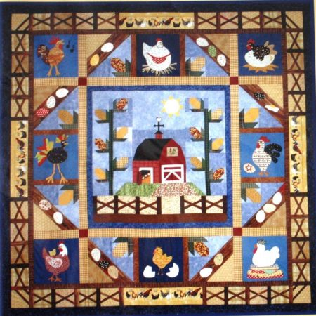 The Quilt Company Quiltpatroon Country Cluckers Kakelende Kippen