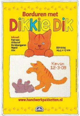 Verwonderend DMC Borduurpakket Dikkie Dik Aida Geboortetegel Kevin DD004 IC-04
