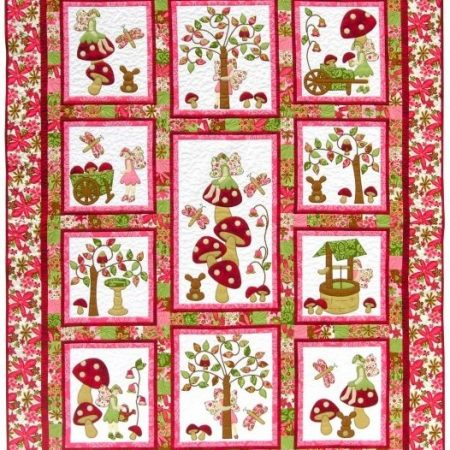 Quiltpatroon van Kids Quilts. Onderwerp: Een sprookjesquilt voor kinderen.