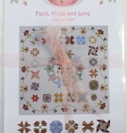 Sue Daley Quiltpatroon Faith, Hope and Love Geloof, Hoop en Liefde