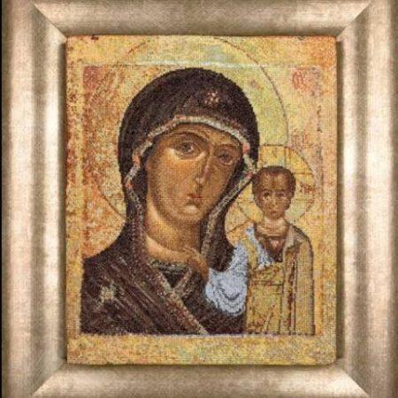 Thea Gouverneur Borduurpakket Aida Holy Virgin of Kazan Icoon Heilige Maagd van Kazan 477
