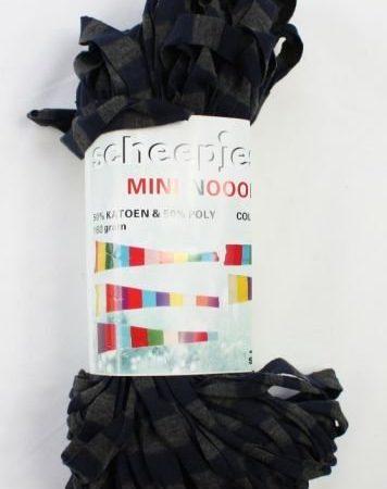 Mini Nooodle Print Scheepjeswol Jeansblauw en grijs gestreept nummer 206