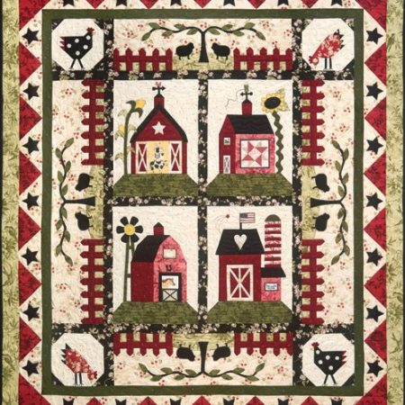 The Quilt Company Quiltpatroon Little Red Barns Kleine Rode Schuren