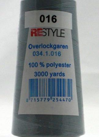 Polyester lockgaren zilvergrijs 034.1.016. Polyester. Lengte: 2700 meter