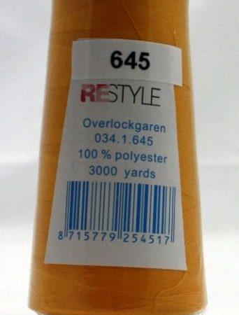Polyester lockgaren maisgeel 034.1.645. Lengte: 2700 meter