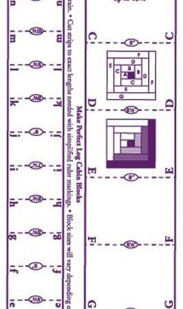 Liniaal Ruler van Marti Michell. Favorite Log Cabin Ruler Liniaal 8037