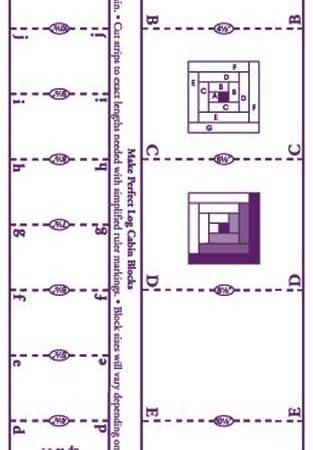 Liniaal Ruler van Marti Michell. Favorite Log Cabin Ruler Liniaal 8038
