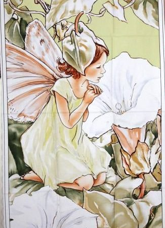 Quiltpanel Morning Fairie. Uit de Flower Fairies serie