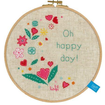 Vervaco Borduurpakket Aida Oh Happy Day Oh Gelukkige Dag150513
