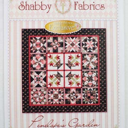 Shabby Fabrics Quiltpatroon Penelope's Garden Penelope's Tuin