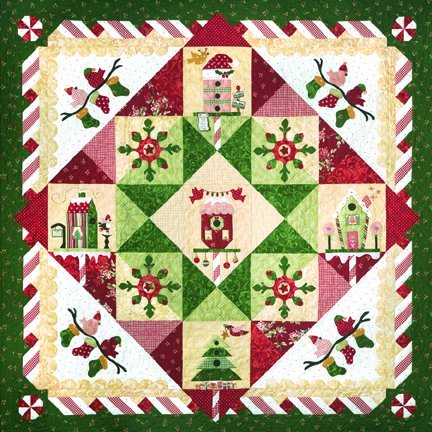 The Quilt Company Quiltpatroon Peppermint Place Pepermunt Plaza