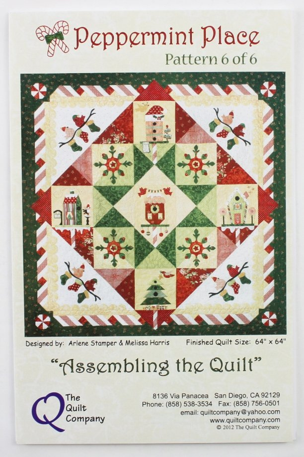 The Quilt Company Quiltpatroon Peppermint Place Borduren Naaien