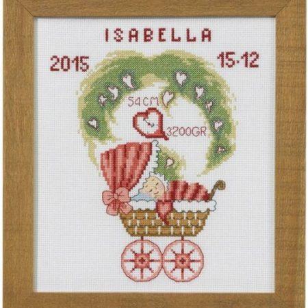 Permin Borduurpakket Aida Geboortetegel Isabella