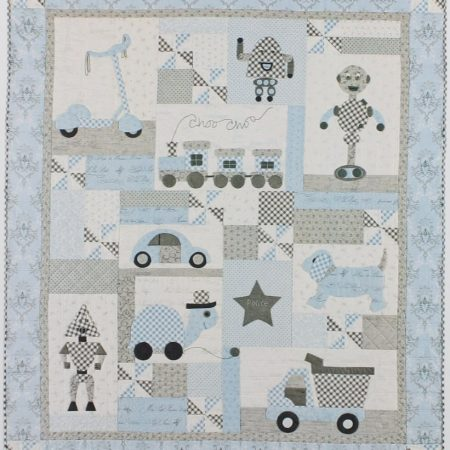 Bunny Hill Designs Quiltpatroon Play Days. Quiltpatroon verdeelt in 9 delen