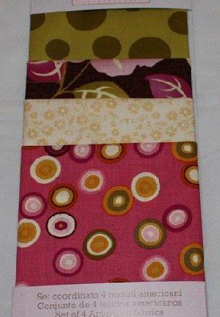 Fat Sixteenth Quiltstof set roze en meer