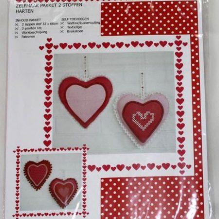 Restyle stoffenpakket Harten rood