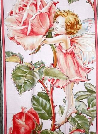 Quiltpanel Sweet Rose Fairie. Uit de Flower Fairies serie