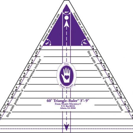 Liniaal Ruler van het merk Marti Michell. Soort: Triangle Ruler 8963