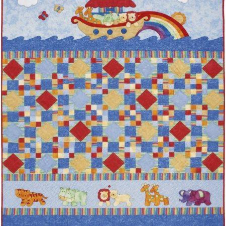 Quiltpatroon van Kids Quilts. Onderwerp: De ark van Noach.
