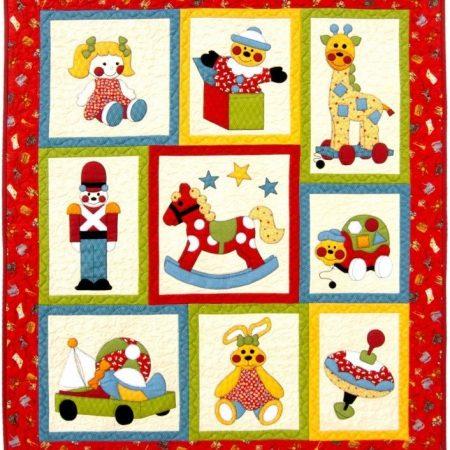 Quiltpatroon van Kids Quilts. Onderwerp: Nostalgisch kinderspeelgoed.