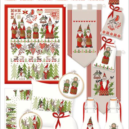 Lindner Borduurpatroon 058 Christmas World Kerstwereld