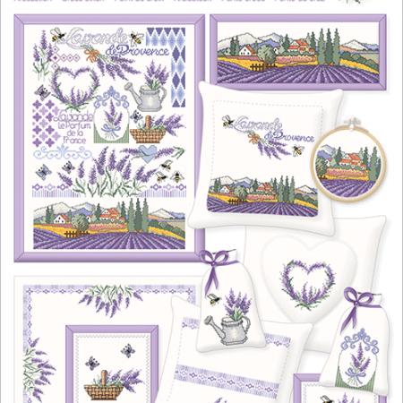 Borduurpatroon Lindner. Lavende de Provence. Lavendel uit Provence 080