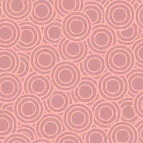Quiltstof katoen Deco Flowers ringen roze 1145/P