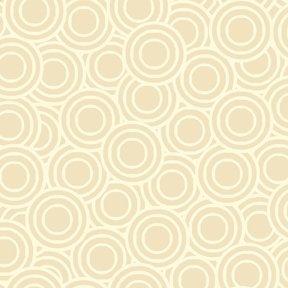 Quiltstof katoen Deco Flowers ringen creme 1145/Q