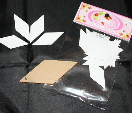Sue Daley Paper Piecing + Kunststof mal Eight Pointed Star 1 1/4 inch