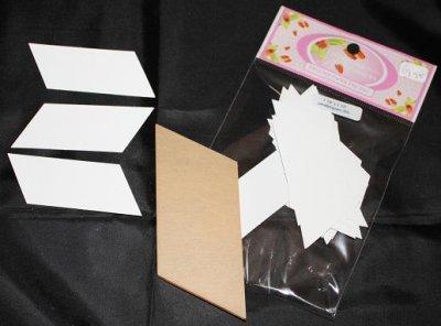 U ontvangt 50 papieren mallen en 1 doorzichtige kunststof mal