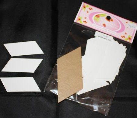U ontvangt 50 papieren mallen en 1 doorzichtige kunststof mal Parallelogram.