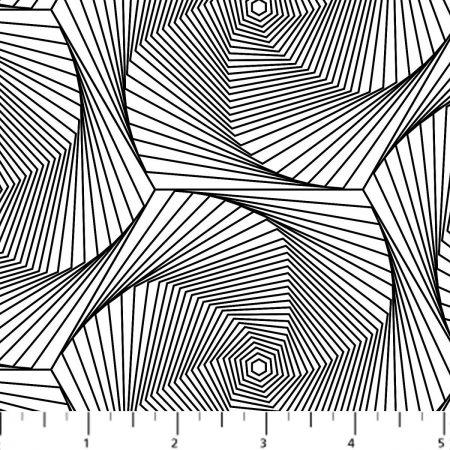 Quiltstof katoen Optical Illusions Optische Illusies. Verkoop per 25 cm