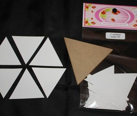 Sue Daley Paper Piecing + Kunststof mal Equilateral Triangle 2 inch