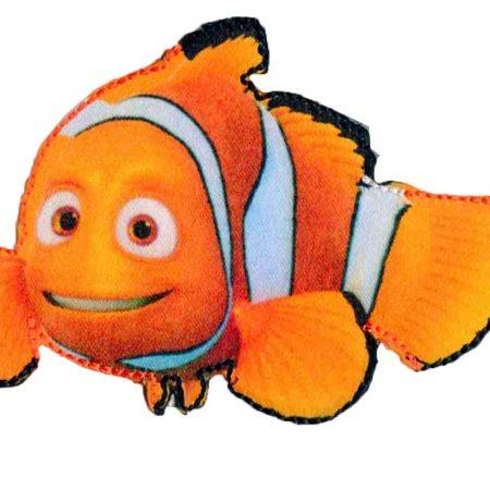 Strijkapplicatie Finding Nemo 34759. Satijn. Visje Nemo. Afm.: 8 x 7 cm